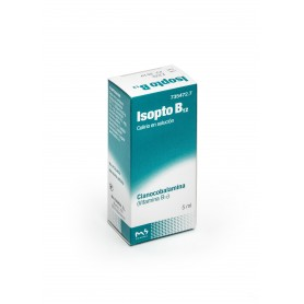 ISOPTO B12 0,5 MG/ML COLIRIO EN SOLUCION , 1 FRASCO DE 5 ML