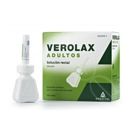 VEROLAX ADULTOS SOLUCION RECTAL , 6 ENEMAS DE 7,5 ML
