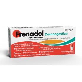 FRENADOL DESCONGESTIVO CAPSULAS DURAS, 16 CÁPSULAS